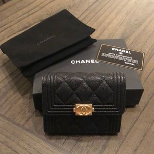 Like NEW Chanel Quilted Boy Wallet